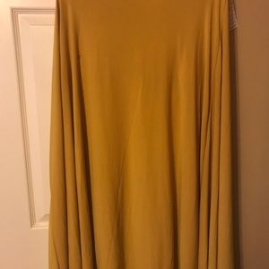 Mustard yellow XL LulaRoe maxi!  New with tags!